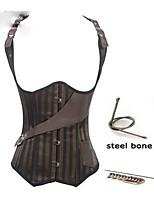 corsés de cintura steampunk gótico deshuesado acero del corsé de la cintura entrenador ropa steampunk bustier corsé