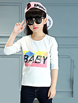 Girl's Wild Round Collar Casual/Daily Letter Print Cotton Tee / T-shirt