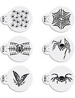 6pcs Halloween Stencils Template for Cookie Stencil Set Fondant Cupcake Design Stencil ST-917