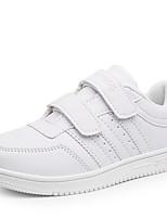 Girl's / Boy's Sneakers Spring / Fall Comfort PU Casual Flat Heel Magic Tape White