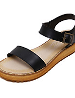 Women's Sandals Summer Sandals / Open Toe Leather Casual Flat Heel Others Black / White Others