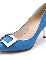 Women's Heels Spring / Fall Heels / Pointed Toe Fabric Office & Career / Party & Evening / Casual Stiletto Heel  / Blue