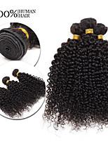 3 pezzi Kinky Curly Tessiture capelli umani Brasiliano Tessiture capelli umani Kinky Curly