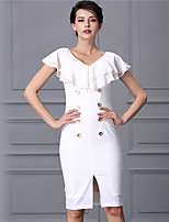 Baoyan® Women's V Neck Sleeveless Above Knee Dress-888025