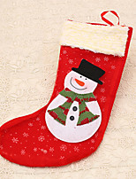 1pc Christmas Stocking Snowman Decoration Xmas Candy Bag for Kids Gift