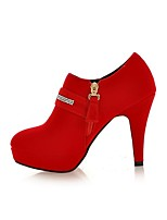 Women's Boots Fall / Winter Bootie PU / Leatherette Dress / Casual Chunky Heel Others Black / Red Walking