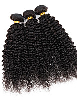 3 Pièces Kinky Curly Tissages de cheveux humains Cheveux Brésiliens Tissages de cheveux humains Kinky Curly