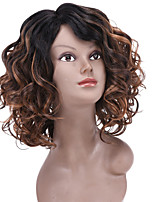 Fashion Afro Curly Wig for Black Women 1B/Brown Ombre Color Synthetic Wigs