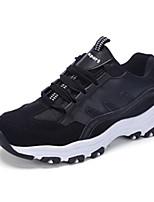 Da donna-Sneakers-Sportivo-Punta arrotondata-Piatto-PU (Poliuretano)-Nero / Bianco