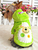 Dog Hoodie Red / Green / Blue / Yellow / Purple Winter  Solid / Animal Casual/Daily Dog Clothes / Dog Clothing