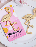 Acrylic Stainless Steel Bottle Flamingo Shaped Favor-1Piece/Set Bottle Openers Classic Theme  Gold