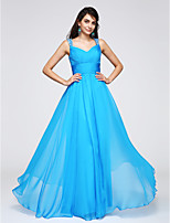TS Couture® Formal Evening Dress Sheath / Column Straps Floor-length Chiffon with Beading / Side Draping / Ruching