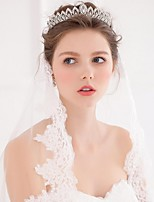 Women's Alloy / Imitation Pearl Headpiece-Wedding /  Casual Tiaras / Headbands / Wreaths / Hair Tool 1 Piece Silver