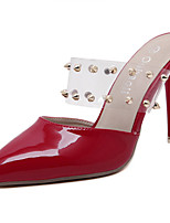 Women's Sandals Summer Sandals / Pointed Toe PU Casual Stiletto Heel Rivet Red / White Others