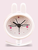 (Pattern  random)Children gift rabbit girl pocket clock Cute creative small portable metal paint alarm clock
