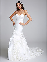 Lanting Bride Fit & Flare Wedding Dress Court Train Sweetheart Taffeta with Criss-Cross