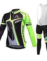 Sportif Vélo/Cyclisme Maillot / Collant à Bretelles/Corsaire Bretelles Homme Manches longuesRespirable / Haute respirabilité (>15,001g) /
