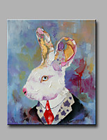 Single Modern Abstract Pure Hand Draw Ready To Hang Decorative  The Rabbit  Oil Painting