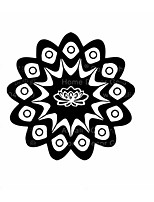 Mandala Flower Namaste Vinyl Sticker Art Decor Mandala Indian Pattern Decals For Religion Mandala Indian Wall Sticker
