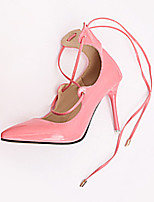 Women's Heels Fall Heels Patent Leather Casual Stiletto Heel Lace-up Black / Pink / Red / Gray Others