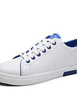 Herren-Sneaker-Lässig / Sportlich-PU-Flacher Absatz-Flache Schuhe-Blau / Orange