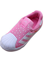 Girl's Sneakers Spring / Fall Comfort PU Casual Flat Heel Slip-on Black / Blue / Green / Pink Walking / Others