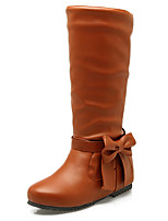 Women's Shoes Fall / Winter Fashion Boots / Round Toe Boots Office & Career / Dress / Casual Low Heel Bowknot