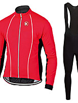 KEIYUEM®Spring/Summer/Autumn Long Sleeve Cycling Jersey+long Bib Tights Ropa Ciclismo Cycling Clothing Suits #L63