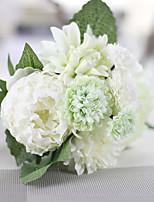 1 Филиал Полиэстер Пластик Розы Букеты на стол Искусственные Цветы 9*9