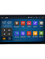 quad core universel android 4.4.4 1024 * 600 GPS de voiture 2DIN 7inch 1.6GHz radio cpu ram 16gb écran tactile