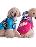 Dog Hoodie Blue / Pink Winter / Spring/Fall Solid / Floral / Botanical Casual/Daily Dog Clothes / Dog Clothing-Other