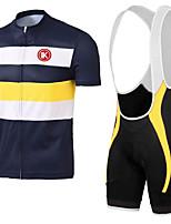 KEIYUEM®Summer Cycling Jersey Short Sleeves + BIB Shorts Ropa Ciclismo Cycling Clothing Suits #K131