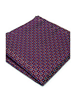 100% Silk Purple Checked New Men's Pocket Square Dress Business Jacquard Woven For Men Handkerchief