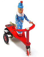 Novelty Toy  Pretend Play Puzzle Toy Wind-up Toy Novelty Toy  Bicycle  Metal Red For Kids