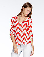 Heart Soul® Women's Round Neck 1/2 Length Sleeve T Shirt Orange-10A2CP3904