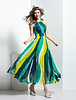 BORME® Damen Halter Ärmellos Maxi Kleid-Z129