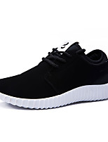 Men's Sneakers Spring / Fall Styles / Round Toe Microfibre Casual Flat Heel Others Black / Black and Red Running