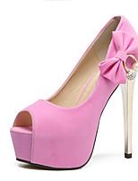 Women's Sandals Summer Sandals / Open Toe Suede Outdoor Stiletto Heel Bowknot Black / Pink Others