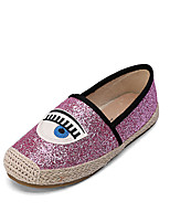 Girl's Flats / Loafers & Slip-Ons Spring / Fall Comfort / Round Toe / Flats PU Casual Flat Heel Slip-on Pink / Silver / Gold Others
