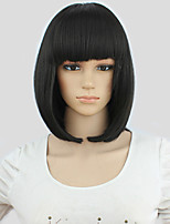 Fashion style Lady Gaga Bob Hair Blunt Bangs Black Short Anime Cosplay Party Wig +Free wig cap