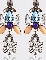 High Quality Vintage Ethnic Style Drop Earrings Retro Crystal Big Bohemian Dangle Earrings Fashion Jewelry Women