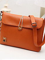 Women PU Casual Button Sheepskin Patch Vintage Shopping Shoulder Key Holder Mobile Phone Bag
