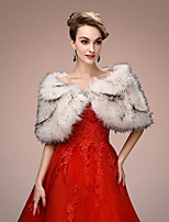 Women's Wrap Capelets Sleeveless Faux Fur Multi-color Wedding / Party/Evening Scoop 45cm Draped Open Front