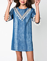 Girl's Casual/Daily Solid Dress,Polyester Spring / Fall