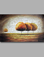 Stretched (Ready to hang) Hand-Painted Oil Painting 90cmx60cm Canvas Wall Art Modern Abstract Trees Brown