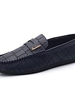 Heren Platte schoenen Lente / Herfst Comfortabel PU Informeel Platte hak Ruches / Combinatie Zwart / Blauw / Oranje Wandelen