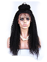 120% Density Brazilian 6A Kinky Curly Lace Front Human Hair Wigs Kinky Curly Lace Wig 20