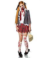 Costumes Zombie / Vampire Halloween / Carnaval / Fête d'Octobre Rouge / Blanc Vintage TérylèneManteau / Chemisier / Jupe / Gants /