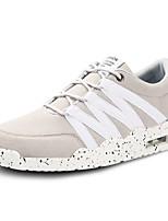 Черный / Синий / Серый-Мужской-На каждый день-Ткань-На плоской подошве-Удобная обувь-Кеды