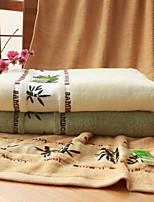 Serviette de bain-Jacquard- en100% Fibre de bambou-70*140cm